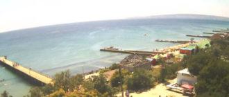 веб-камера у пляжей и набережной Приморского