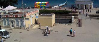 веб-камера у ЖД-перехода в Феодосии